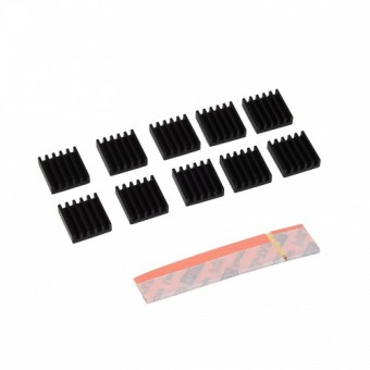 Dissipateur RAM Carte Graphique AKASA  AK-VMC01-BK VGA RAM Heatsinks (lot de 10)